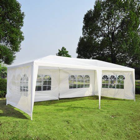 10 x 20 canopy walls outsunny 10 x 20 gazebo canopy tent w 4 removable