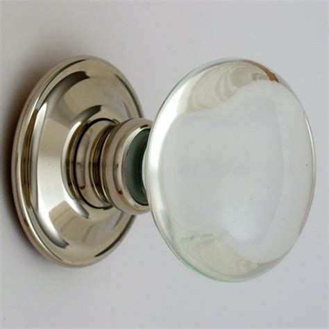 Glass Door Knobs by Smooth Glass Door Knobs Nickel Backs Priors