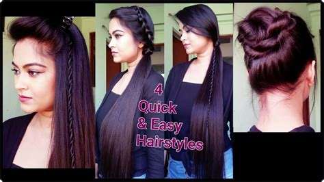 4 quick easy heatless hairstyles for summer for medium long hair indian hairstyles youtube