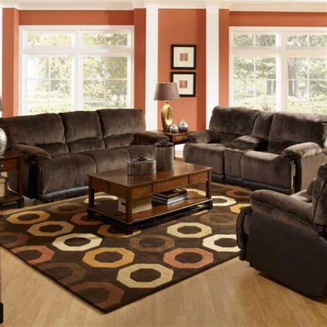 red leather sofa living room ideas spacious living room design with red wall color and brown