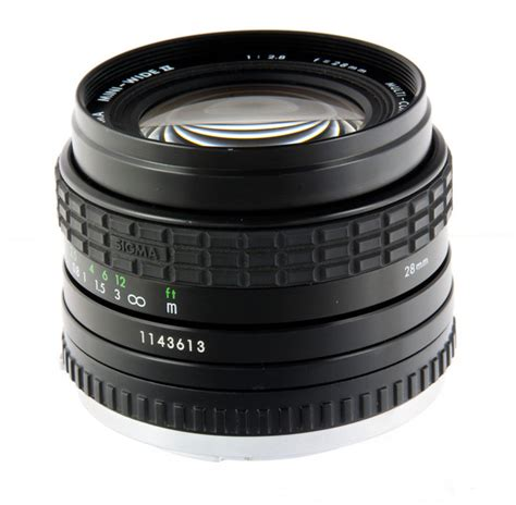 Sigmat Mini the sigma mc mini wide ii 28 mm f 2 8 lens specs mtf charts user reviews