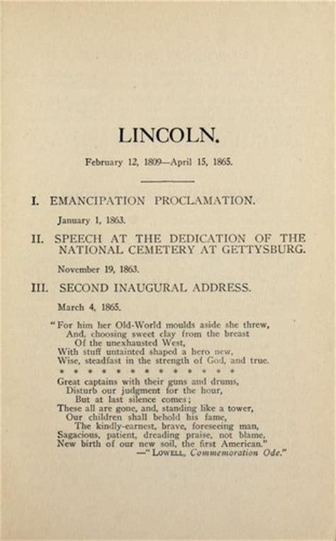 emancipation proclamation and gettysburg address lincoln gettysburg speech emancipation proclamation
