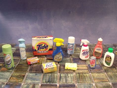dollhouse clean doll cleaning products custom 1 6 scale