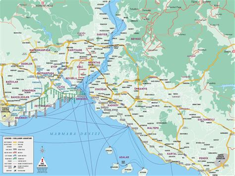 map of istanbul istanbul map map of istanbul rail system printable istanbul maps