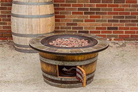 wine barrel fire pit wine barrel furniture