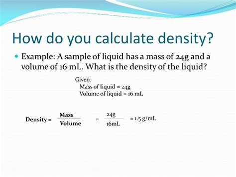 ppt weight mass volume and density powerpoint