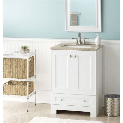 Solid Surface Bathroom Vanity by Shop Style Selections Emberlin White Integral Single Sink