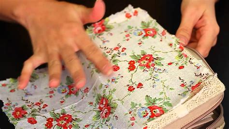 What Do You Need To Decoupage - let s diy napkin decoupage on fabric purse
