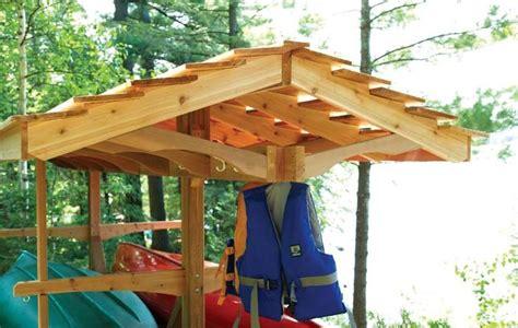canoe rack wood plans loisirs pinterest kayak
