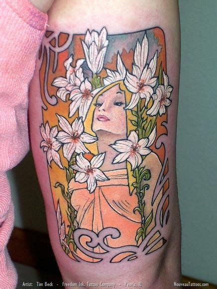 tim beck tattoo alphonse mucha tim beck nouveau freedom