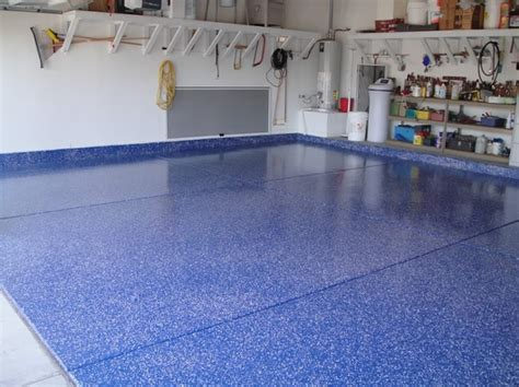 blue color epoxy garage floor paint ideas flooring ideas