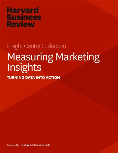Harvard Mba Marketing by Harvard Business Review Measuring Marketing Insights