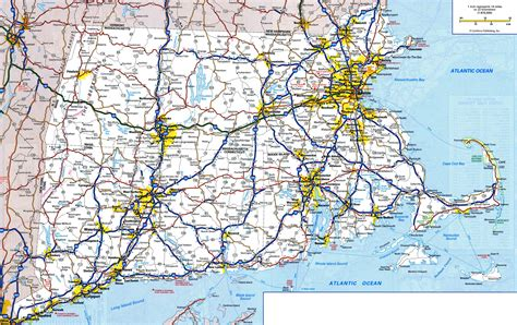 printable connecticut road map large detailed roads and highways map of connecticut