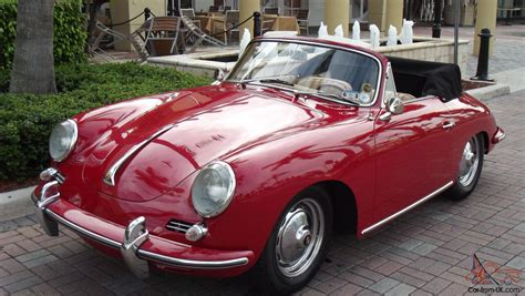 porsche 356 cabriolet 1963 porsche 356 b cabriolet restored red with tan