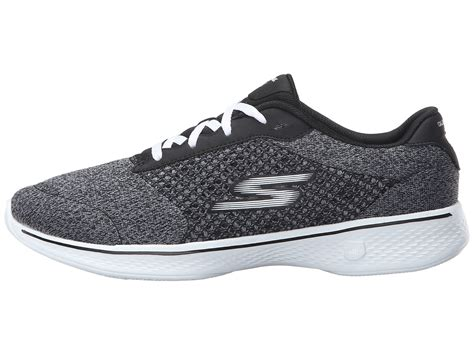 Skechers Walk 4 by Skechers Performance Go Walk 4 Exceed Black White