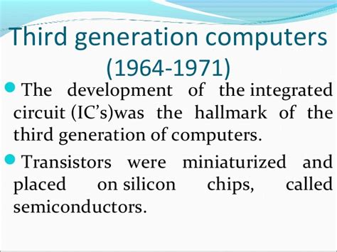 integrated circuits are classified according to the the third generation integrated circuit 28 images third generation computers alexgan95
