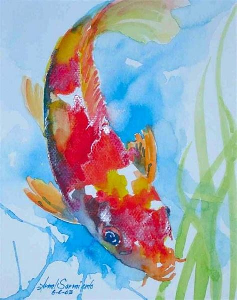 koi fish watercolor paintings 287 best images about art fish on pinterest watercolor