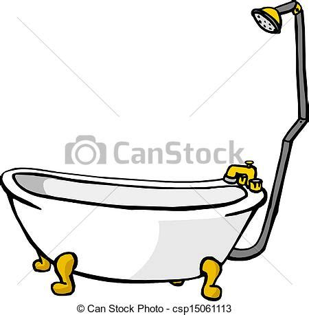 bathtub clipart free vector clip art of illustration of a bathtub csp15061113