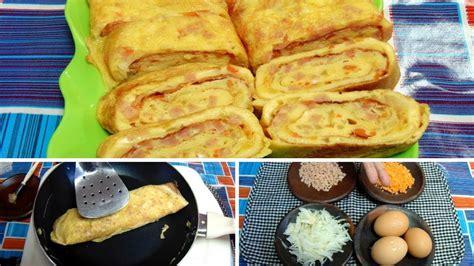 cara membuat omlet telur gulung resep cara membuat telur dadar gulung korea gyeran mari