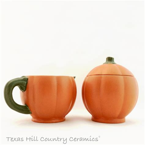 Product Find Pumpkin Sugar 2 by Orange Pumpkin Creamer Pitcher And Sugar Bowl Set Table Or