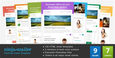 Ninja Mailer Premium Email Template By Gifky Themeforest Demo Email Template
