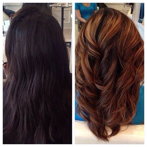cut before dye hair before and after highlights hair and beauty pinterest