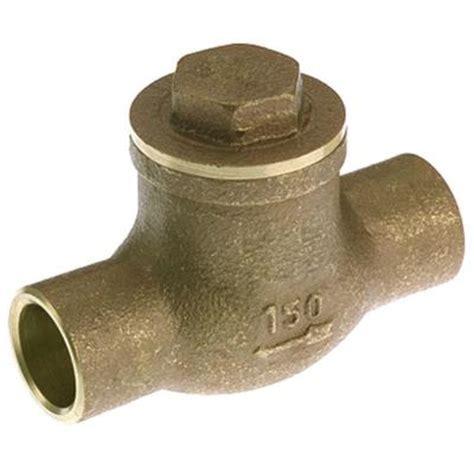 mueller swing check valve mueller global 3 4 in brass solder swing check valve 101