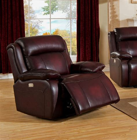 powered recliners leather faraday top grain leather power recliner