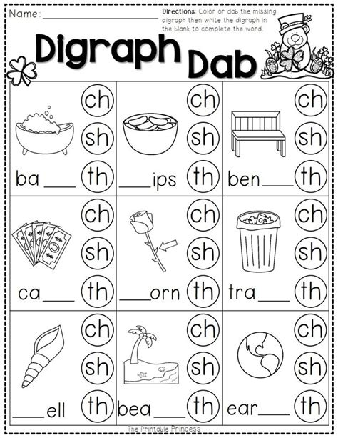Digraph Worksheet by Free Diphthong Worksheet Tefl Summer