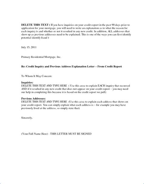 Credit Explanation Letter For Employer signed letter of explanation for address resume