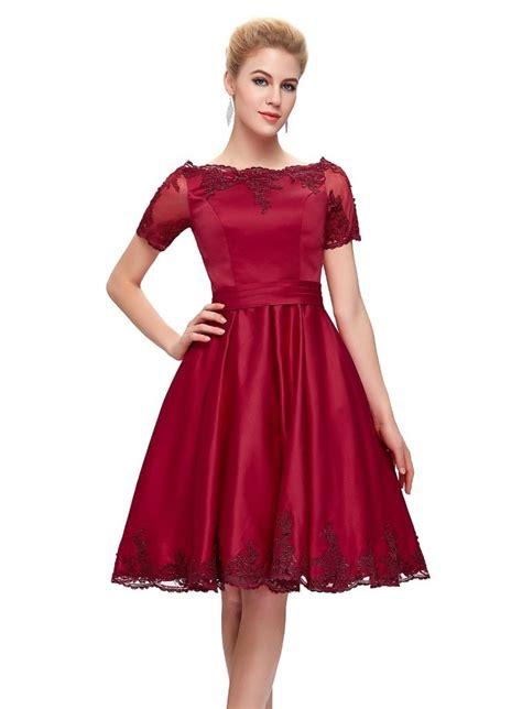 Dress Satin crimson satin dress 1950sglam
