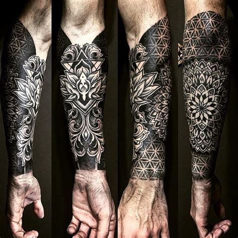 geometric tattoo full sleeve geometric mandala half sleeve tattoo by stonedblack