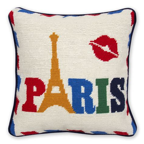 needlepoint throw pillow modern needlepoint