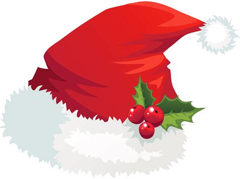 Nice Holiday Home Christmas Lights #5: Santa-hat-with-mistletoe-clipart.png