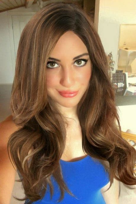medium brown hair with high and low lights trend hair lowlights