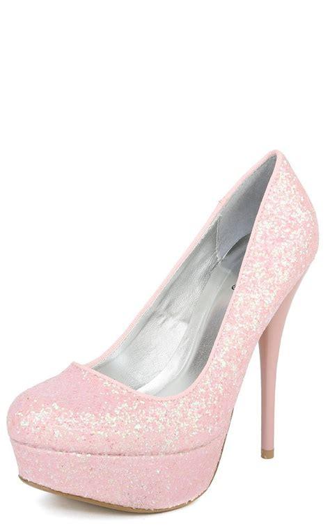 High Heels Pink B light pink sparkly high heels