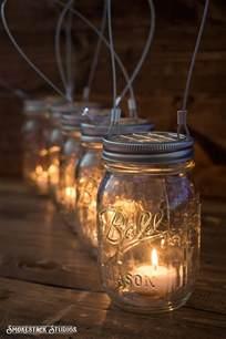 Jar Candles Set Of 5 Hanging Jar Candle Holders Farmhouse Wedding