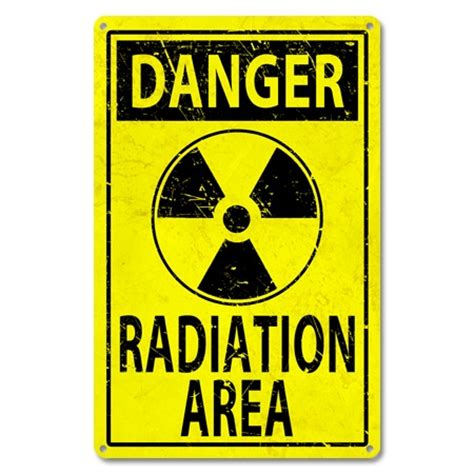 Mail Order Catalogs Home Decor by Danger Radiation Sign Danger Sign Radiation Sign Metal