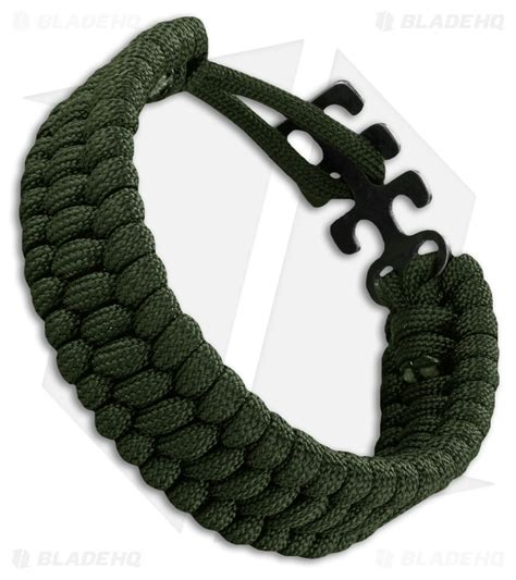 crkt survival bracelet crkt adjustable paracord bracelet green 9400g blade hq