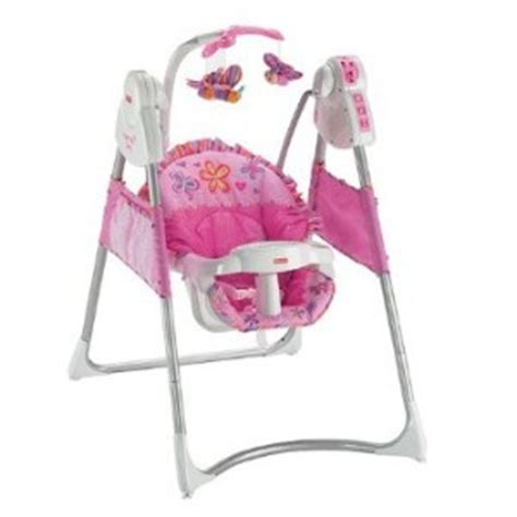 pink fisher price swing fisher price power plus swing pink reviews in baby gear