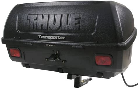 Luggage Hitch Rack by Thule Transporter Combi Hitch Mounted Enclosed Cargo Carrier Tilting Thule Hitch Cargo Carrier