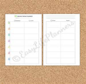 Blank Weekly Menu Template by 21 Blank Menus Psd Vector Eps