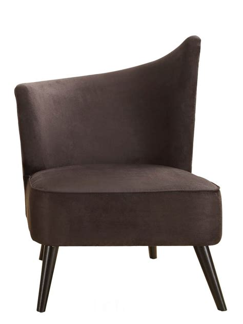 Microfiber Accent Chair Accent Chair With Left Flared Back Black Microfiber Lc2132mfblle Decor South