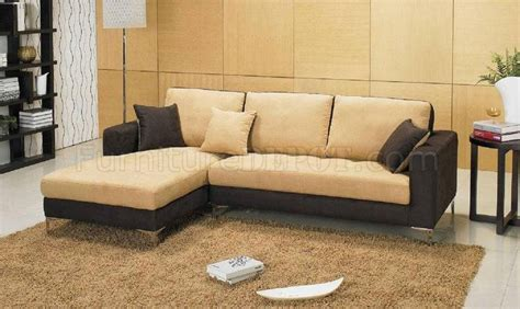 chocolate brown microfiber sectional two tone chocolate brown and beige microfiber sectional