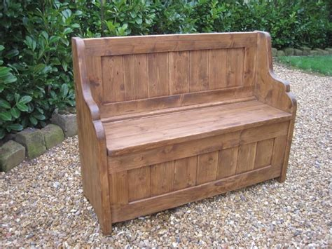 kitchen settle bench reclaimed pine settle made to measure kitchen bench