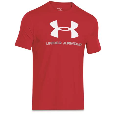 T Shirt Kaos Armour Logo armour s sportstyle logo t shirt 677572 t shirts at sportsman s guide