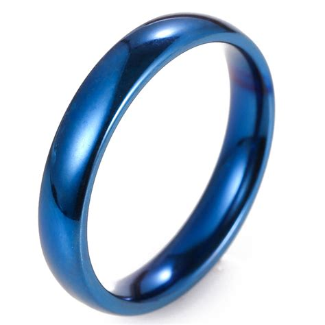 Gold Ring Titanium Steel Fashion Simple Black 4mm simple titanium ring for and wedding