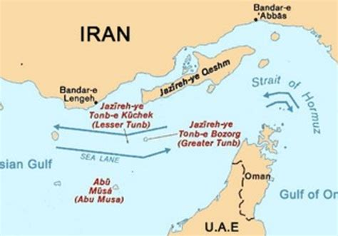 map of uae and iran gulf states plan to meet uae iran island row