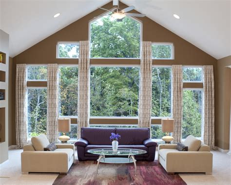 curtain ideas for large windows in living room do you think you have too many windows or that your windows are too large for window treatments
