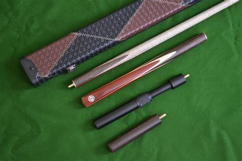 Snooker Cues Handmade - handmade 4 snooker cue set with leather
